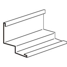 Угол пристенный алюминиевый PLL 3000 мм (белый)
